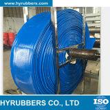 Ningún manguito de alta presión del PVC Layflat del olor en azul