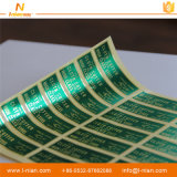 Escritura de la etiqueta impermeable del cartón del conjunto de la impresión de la etiqueta