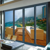 Soem Three Tracks Thermal Break Aluminium Sliding Interior Door Extrusion Profiles für Hotel Doors (FT-D126)