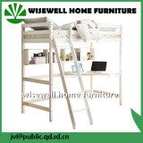 Dorminhoco elevado da base contínua da cabine da madeira de pinho com mesa