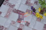 Matt Face Pink con White Cracked Crystal Mosaic (CCM204)