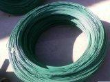 Fio galvanizado revestido verde e colorido do PVC do ferro