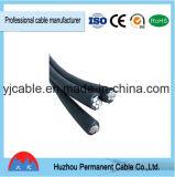 고품질 4 코어 PVC에 의하여 격리되는 4X16mm2 ABC 케이블 중국제