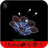 Decoração ao ar livre do Natal da flor colorida do diodo emissor de luz