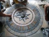 Reticolo Mixed del medaglione del mosaico dell'ardesia di colore per la parete o il pavimento per la decorazione