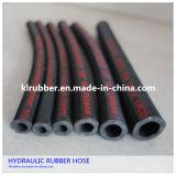 Slang van de Olie van de hoge druk de Bestand Hydraulische Rubber
