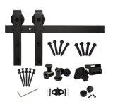 黒い引き戸のハードウェア(LsSdu 004)