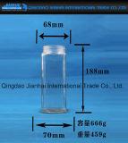 Bottiglia di vetro dell'acqua con il nuovo reticolo di disegno