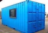 Полуфабрикат светлые стальные дома контейнера плоской крыши