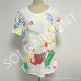 도매 소녀의 정규적인 간결은 소매를 단다 t-셔츠 (SOI-T1710)를