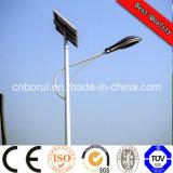 Projeto novo luz de rua solar personalizada do diodo emissor de luz da alta qualidade com preço da tomada da manufatura de Pólo 5-12m