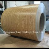 Il grano di legno di vendita calda 2017 ha preverniciato le bobine della lamiera di acciaio, PPGL