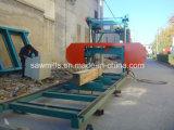 製材所の水平木製の打抜き機の携帯用製材所