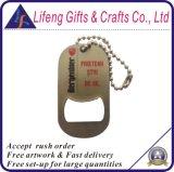 Étiquette de crabot faite sur commande de trousseau de clés d'ouvreur de bouteille en métal