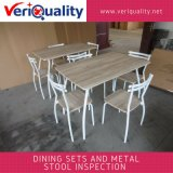 Обслуживание осмотра качественного контрола для обедать комплекты и табуретка на Zhangzhou, Fujian металла