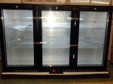 바 냉장고의 밑에 3 문 뒤 바 냉각기 광고 방송