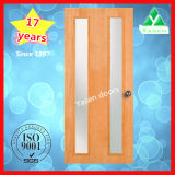 Porte en bois de peau de qualité (porte en bois avec le verre)