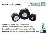Refrigerador de alumínio do dissipador de calor do dissipador de calor do forjamento frio do diodo emissor de luz para a luz do ponto/para baixo o diâmetro claro 78mm