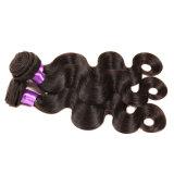 Cabelo humano preto natural da onda não processada peruana do corpo do cabelo do Virgin do lote 7A Pervian dos pacotes 3PCS do Weave do cabelo da onda do corpo do cabelo do Virgin