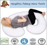 100%のCによって形づけられたボディサポート妊娠の妊婦の枕は綿のジッパーのカバー、背部および腹サポートを洗浄した