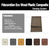 Decking composé en plastique en bois de plancher extérieur d'Eco