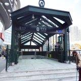 地下鉄、地下の駐車場、駅への最上質の鋼鉄避難所のおおい