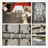 Hotel-Möbel 6 Fuss-im Freien preiswertes Plastik, beinahe regelmäßige Tabelle, Freizeit-Möbel-faltenden Speisetisch, Garten-Tabelle, kampierende Tabelle, Garten-Tabelle faltend
