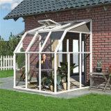 Gazebo de vidro de madeira folheado de alumínio da vitrificação dobro, Sunroom de alumínio material do jardim do frame da liga de alumínio