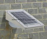 Éclairage solaire imperméable à l'eau extérieur de mur avec le détecteur de PIR