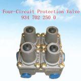 Valvola di protezione di circuito quattro dell'OEM no. 9347022500 del rifornimento della fabbrica per le parti del camion