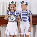 Uniforme escolar lindo del marinero/uniforme modificado para requisitos particulares de la escuela secundaria