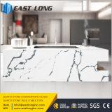 Pedra de quartzo de carrara artificial para bancada de cozinha / Slabn com superfície sólida polida / SGS / Ce (anti-corrosão)