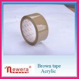 Cinta adhesiva de acrílico del embalaje del color BOPP de Tan