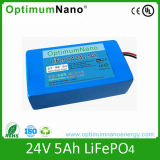 Cycle profundo Life 24V 5ah Lithium Battery para Street Light