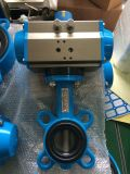 Pneumatic Actuator Wafer Type Butterfly Valve (PTFE Sealling)