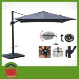 Post centrale Umbrella con Black Color Cover
