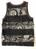 Summer Slub Cotton Vest for Boy avec impression intégrale