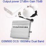 듀얼-밴드 GSM 900 1800년 중계기 이동할 수 있는 신호 증폭기 셀룰라 전화 서비스 승압기