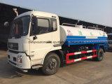 Camion-citerne de abattage hydraulique de Dongfeng 4*2 15000 litres de l'eau de camion de transport