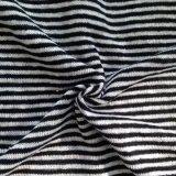 리넨에 의하여 뜨개질을 하는 줄무늬 직물 (QF14-1546-SS.)