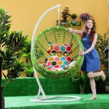 Patio Rattan Egg Shaped Swing Chair Swing Swing Single Seat Swing (D024)