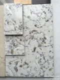 Камень кварца горячего цвета сбывания белого искусственний для верхней части тщеты