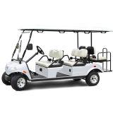 Del3042g2z-H, veicolo elettrico di golf di tecnologia ibrida nera 4+2-Seater