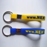 높은 Quality Plastic Promotional Gift 3D Silicon Keychain (KC-009)