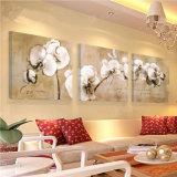 El arte moderno de la pared de 3 pedazos imprimió las flores de la pintura que pintaban el cuadro enmarcado decoración del arte del sitio pintado en la decoración Mc-232 del hogar de la lona