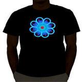T-shirts promotionnels d'éclairage d'EL