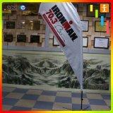 Bandiera su ordinazione all'ingrosso che fa pubblicità alla bandierina di spiaggia del Teardrop di figura della piuma