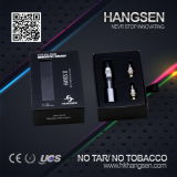 Hangsen e Cigarette с Tip Glass Drip и Bottom Changeable Dual Coil, Vaporizer