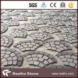 暗い灰色の花こう岩G654のFan-Shaped敷石
