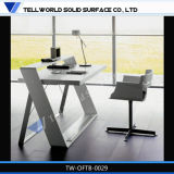Искусственная мраморный каменная стандартная офисная мебель стола офиса дешевая
